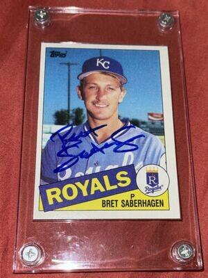 Bret Saberhagen autographed baseball card