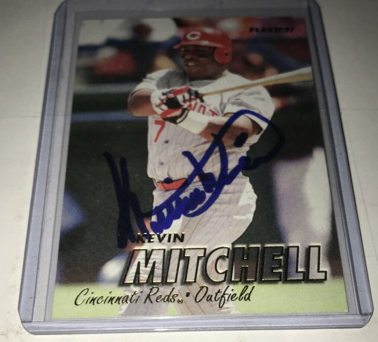 Kevin Mitchell Autographed Baseball Card