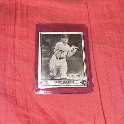 Art Jorgens 1940 playball card
