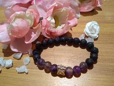 Lava bead Crystal bracelet