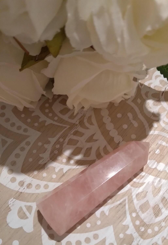 Rose quartz tower