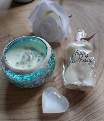Aquamarine birthday set