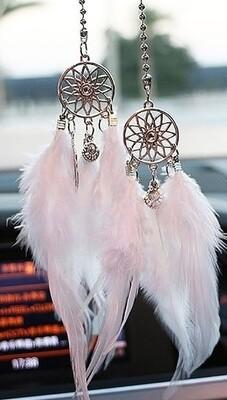 Silver dreamcatcher hanging charm