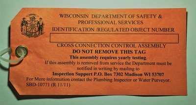WISCONSIN REGULATED OBJECT NUMBER TAGS