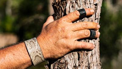 Wildman Python Wrist Cuffs