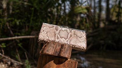 Top Frame Clutch - Everglades Collection