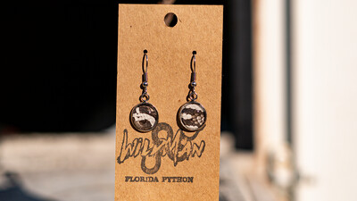 Python Round Dangle Earrings