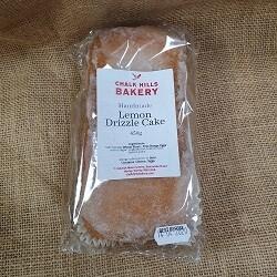 Cake: Lemon Drizzle. Chalk Hills Bakery.