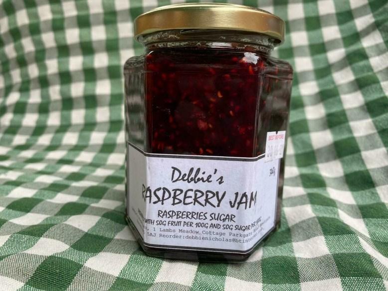 Jam: Raspberry. Debbie's.