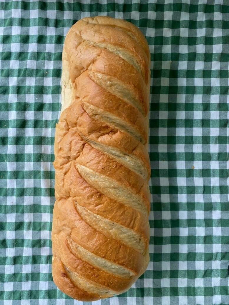 Bread: Large White Bloomer. Cranleigh Bakery.