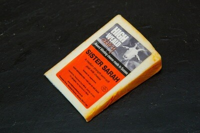 Cheese: Sister Sarah (125g). Goat milk. High Weald Dairy.