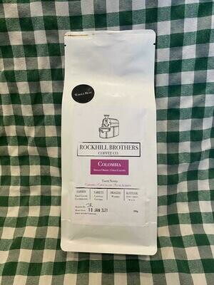 Coffee: 'whole beans' (250g). Rockhill Brothers Coffee Co.
