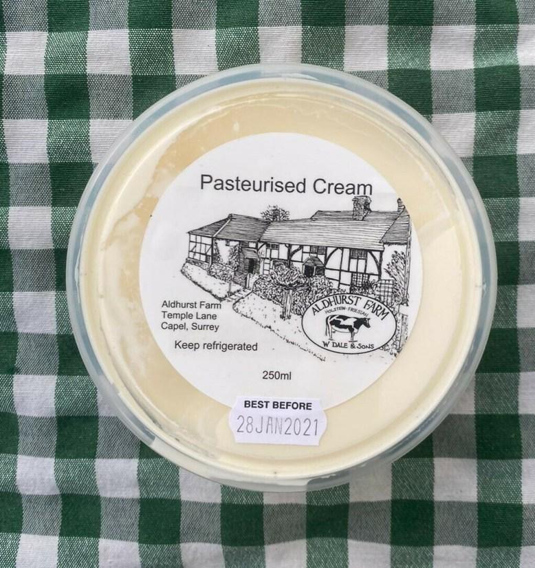 Cream (250ml). Aldhurst Farm.