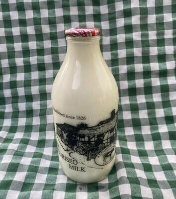 Milk. Semi-skimmed milk. 1 pint. Aldhurst Farm.