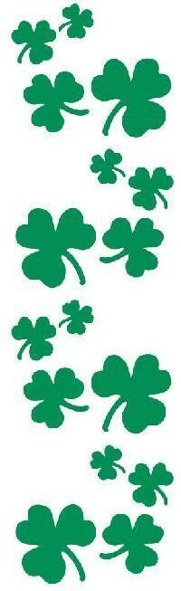St. Patrick's Day Shamrock Stickers