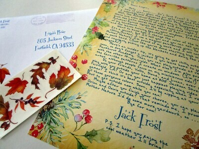 Letter from Jack Frost
