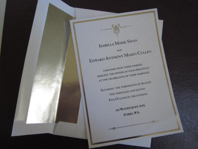 Edward & Bella Wedding Invitation