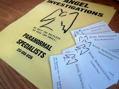 Angel Investigations Business Cards & Flyer