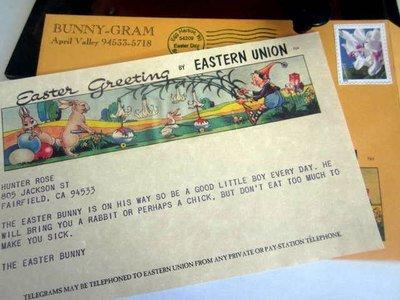 Easter Bunny Telegram Bunny-Gram