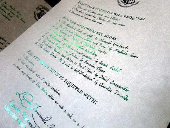 Magic Wizarding Acceptance Letter (British School)