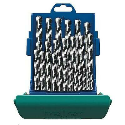 Heller 1 - 13mm 25 Piece HSS G-Cobalt Twist Drill Set Split Point