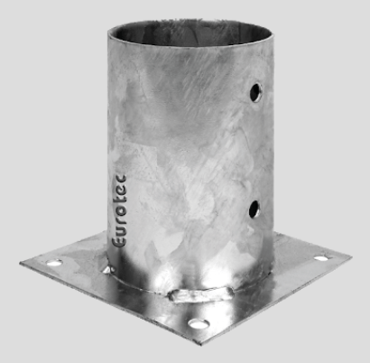 101mm x 150mm  Round Post Holder