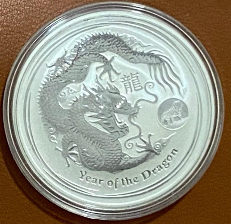1 Unze Silber Australien Lunar ll Year of the Dragon 2012