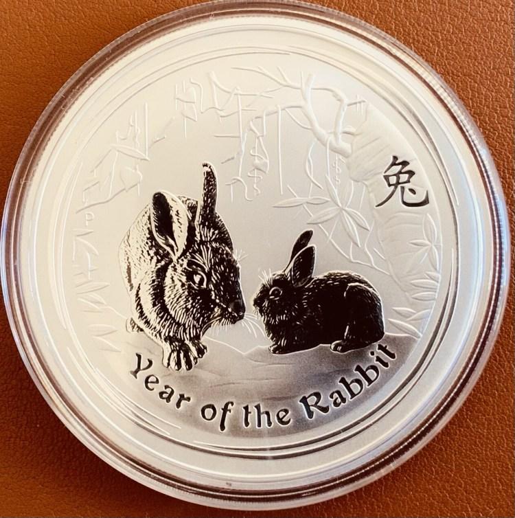 2 Unzen Silber Australia Lunar ll 2011 Rabbit
