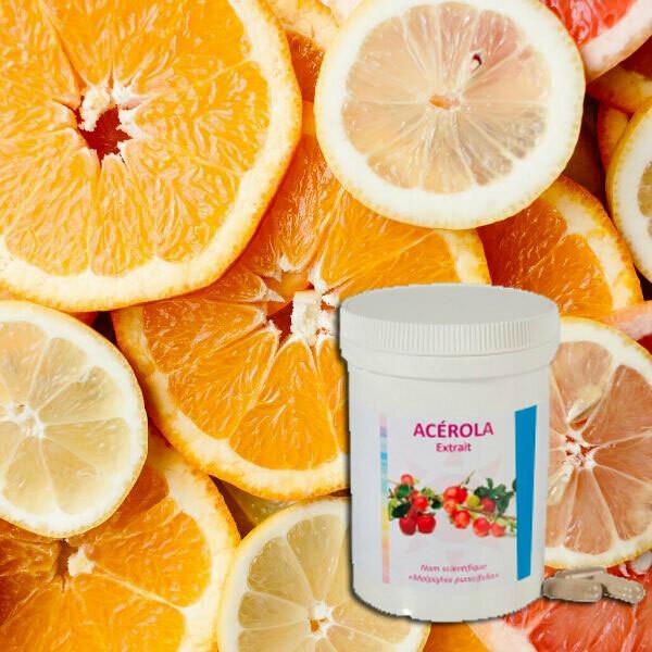 Acérola: Vitamines C naturelles (125 gélules)