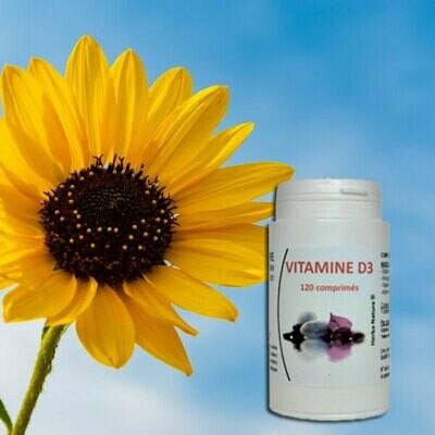 Vitamine D3: pot de 120 gélules