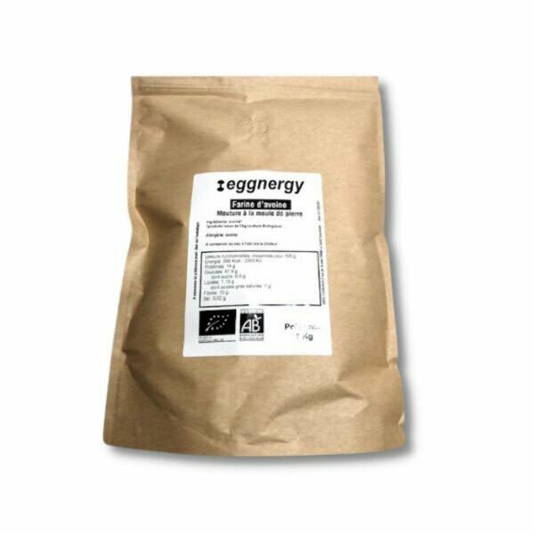Farine d'avoine bio ultra-fine - 1 kg (11% de protéines)