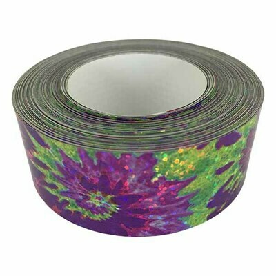 Holographic Sequin Tape, Tie Dye Purple-Green
