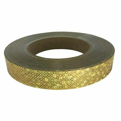 Gold Bubbles Holographic Tape