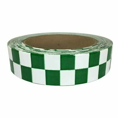 High Gloss Vinyl Green and White Chequer