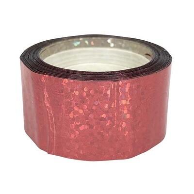 Budget Metallic Red Sequin Tape