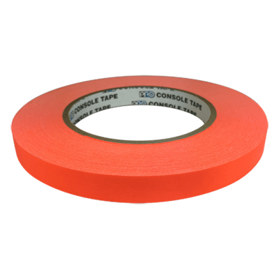 Matte Artist & Board Tape, Fluoro Orange