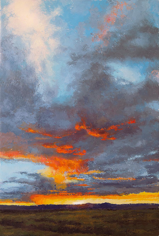 'Sun Setting on the Mesa' Painting
