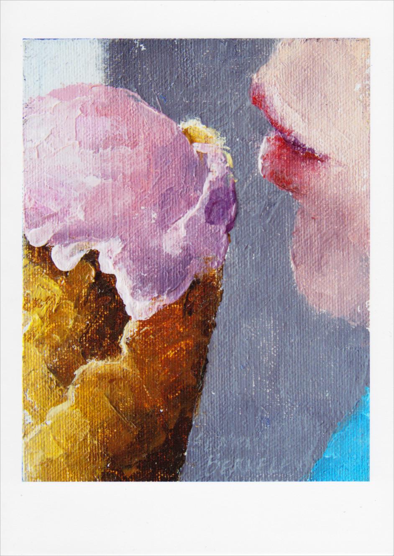 'Cone Kiss' Notecard