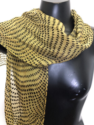 Smokey Olive Dots Burnout  Scarf