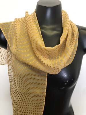 Soft Palomino Gold dots Burnout Scarf