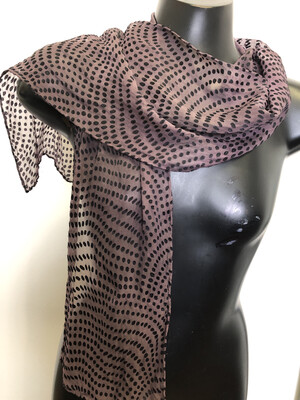 Eggplant Dots Burnout  Scarf