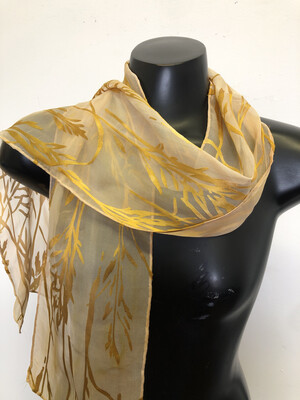 Soft Palomino Gold Bamboo Burnout Scarf