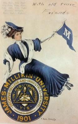 James Millikin University 1901 Post Card