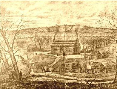 Samuel McAdow Home 1810 - Print