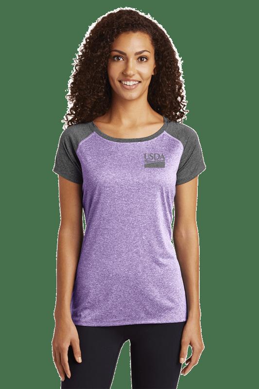 Sport-Tek® Ladies Heather-On-Heather Contender™ Scoop Neck Tee