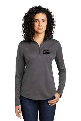 Ladies Silk Touch Performance 1/4-Zip  Custom Embroidery Available