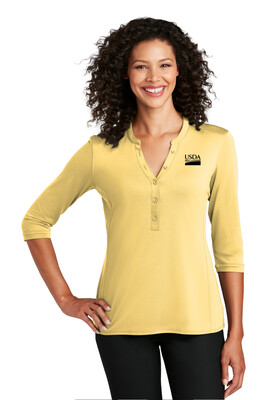Port Authority ® Ladies UV Choice Pique Henley  Custom Embroidery Available
