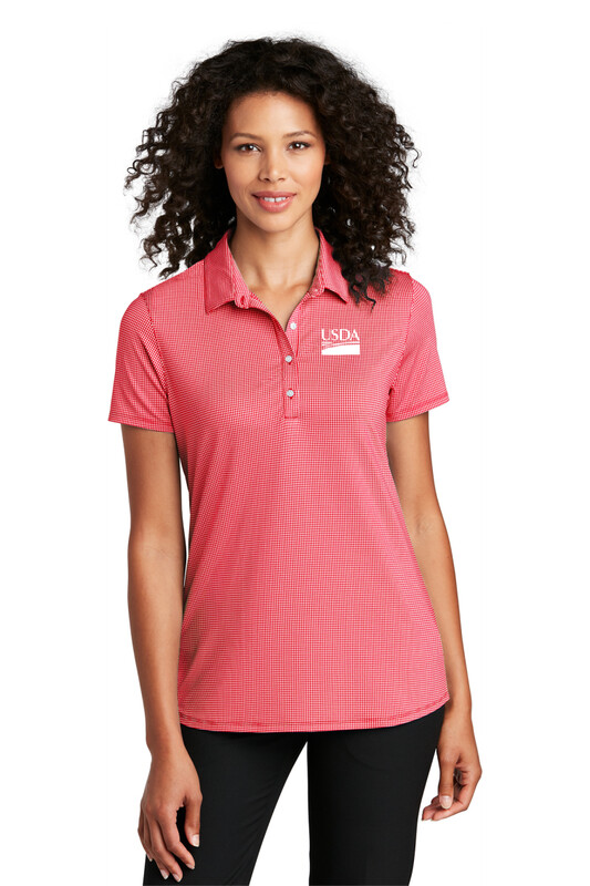 Port Authority ® Ladies Gingham Polo  Custom Embroidery Available