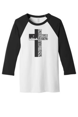 BELLA+CANVAS Unisex 3/4-Sleeve Baseball Tee  REGULAR PRICE  $24.00