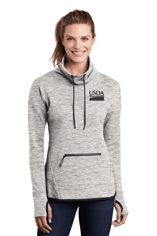 Sport-Tek Ladies Triumph Cowl Neck Pullover